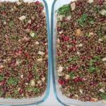Oriental lentil pomegranate salad
